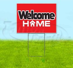 Welcome Home 18x24 Yard Sign With Stake Corrugated Bandit Usa Military Student