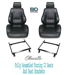 1970 Chevelle And El Camino Touring Ii Assembled Front Bucket Seats And Brackets