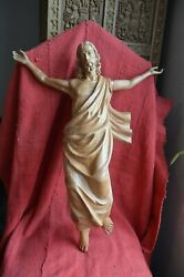 Hand Carved Wood Statue Of The Risen Christresurrection Jesus Tall 24and039and039