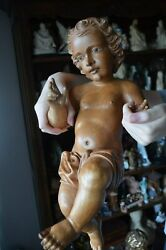 Hand Carved Wood Christ Child Baby Jesus Sculpture Statue Religious Christmas