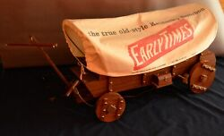 Large Early Times Whiskey Covered Wagon Lamp