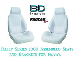 Assembled Seats And Brackets For 1963-1979 Nova 80-1000-53 Rally 1000 Series Scat