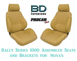 Assembled Seats And Brackets For 1963-1979 Nova 80-1000-54 Rally 1000 Series Scat