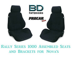 Assembled Seats And Brackets For 1963-1979 Nova 80-1000-61 Rally 1000 Series Scat