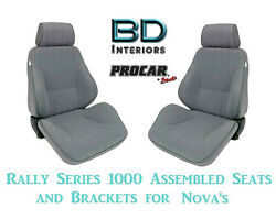 Assembled Seats And Brackets For 1963-1979 Nova 80-1000-62 Rally 1000 Series Scat