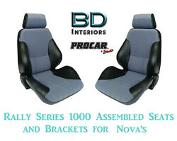 Assembled Seats And Brackets For 1963-1979 Nova 80-1000-73 Rally 1000 Series Scat