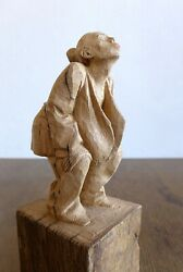 Hand Carved Wood Wooden Sculpture Woman Give Me A Kiss Andreas Wagner Germany