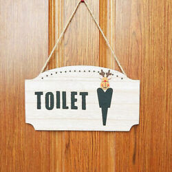 1pc Toilet Hanging Sign Practical Durable Restroom Sign for Hotel Home Apartment