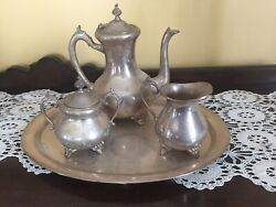 The Bombay Company Silver-plate 4 Piece Coffee Set