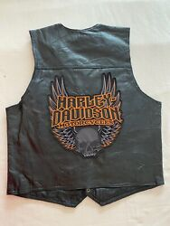 Roberto Amee Designer Collection Mens Genuine Leather Vest With Patches On $94.99