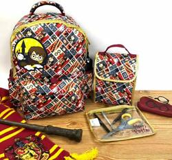 Harry Potter Girls Boys Teen Backpack and Snack Bag School Set-16 inch(5 piece)