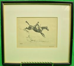 Fox-hunter Original Drypoint By Paul Brown Signed