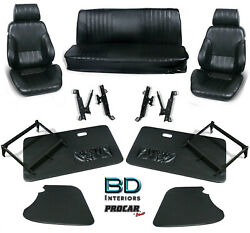 Complete Front Seat And Interior Kit For 1956-1977 Vw Bug Sedanand039s 80-1001 Scat