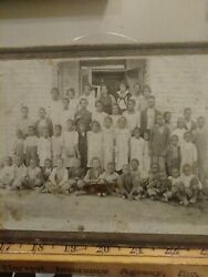 1895 African Americans Cabinet Card School Photo From Greenwood Mississippi
