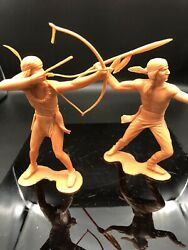 Vintage Louis Marx And Co.1964, 6 Inch Indians Figures Lot Of 2