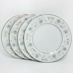 Fine China Of Japan English Garden Platinum Bread And Butter Plate Set Of 4
