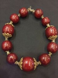 Genuine Antique Natural German Faturan Amber Bakelite Beads Necklace 1555 grams