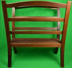 Holland And Holland English Mahogany Hydes Norfolk Uk Picture Rack X 2