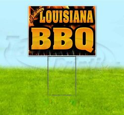 Louisiana Bbq 18x24 Yard Sign With Stake Corrugated Bandit Business Barbecue