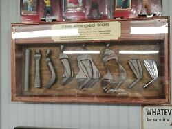 Vintage Rare Wilson Forged Iron Display How Its Made Salesmans Sample Wooden