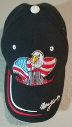 United We Stand New York 911 Hat Twin Towers Commemorative Eagle Flag Adjustable