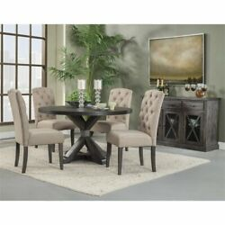 Alpine Furniture Newberry Wood Dining Sideboard In Salvaged Gray