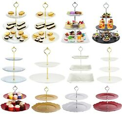 Cake Stand Glass Ceramic Porcelain Afternoon Tea Wedding Plates Party Tableware