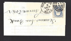 Boston Massachusetts Cover Folded Land Auction Notice. Kern And Fitch
