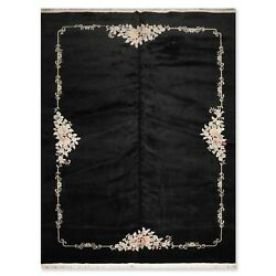 11'6 X 15'6authentic Karastan Hand Knotted Wool French Aubusson Area Rug Black