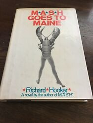 Mash Goes To Maine- 1972 Richard Hooker - 1st Printing - Hc/dj Is Unclipped - Vg