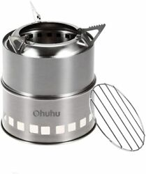 Ohuhu Camping Stove Stainless Steel Backpacking Stove Potable Wood Burning Stove $22.99