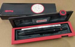 Rotring 600 Trio Matte Black Ballpoint Pen Blue Red And 0.7mm Pencil Japan New