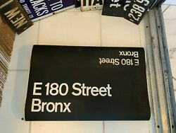 Ny Nyc Subway Roll Sign East 180th Street Bronx West Farms White Plains Transit