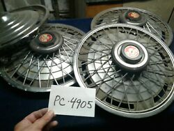 Four 15 Wire Spoke Hubcaps Wheel Covers Set Excaliber Replica Style