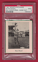 1947 Sports Exchange BB Miniatures Stan Musial Hall of Fame Rookie - PSA 9 MINT