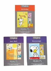 Dayspring Peanuts Boxed Cards Birthday Encouragement Get Well 36 Cards Wi...