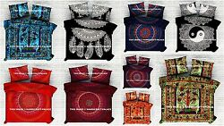 Indian Mandala Queen Bedding Donna Duvet Cover Reversible Blanket With Pillows