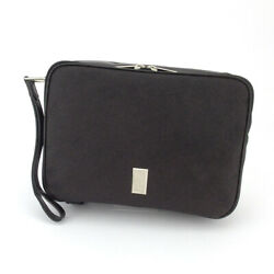 Dunhill Clutch Bag Sidecar Pvc � Leather Auth Used D2216