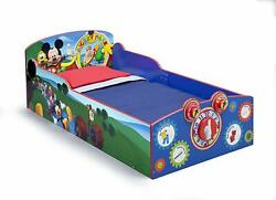 Childrens Toddler Bed Mickey Mouse Clubhouse Wood Boys Girls Bedroom Furniture