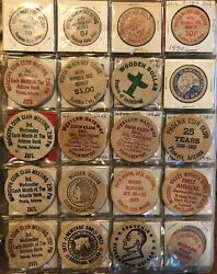 Vintage Wooden Nickel Collection Lot Of 420 Nickels In Protective Sleeves