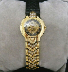 Gianni Versace 18K Solid Gold And Diamond Beautiful *LIMITED EDITION 076* Watch $12000.00