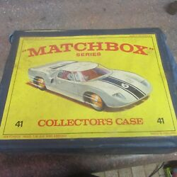 Vintage Collectable Matchbox Series 41 Collectors Case W/ Cars Trucks O1