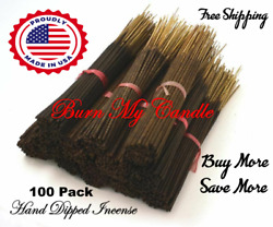 HEAVILY SCENTED INCENSE STICKS HAND DIPPED Bulk Wholesale 100 Bundle