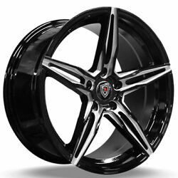 4 18 Staggered Marquee Wheels M8888 Gloss Black Milled Rims B5
