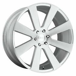 Dub 8 Ball S213 22x9.5 6x139.7 Offset 20 Gloss Silver Brushed Quantity Of 4