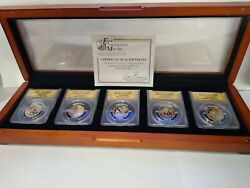 2019 Innovation Proof Set In Pr70 Dcam With 2018 Inaugral Pr70dcam Set Of 5 Coin