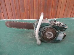 Vintage Homelite C-5 Chainsaw Chain Saw With 16 Bar Parts