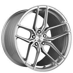4 22 Staggered Stance Wheels Sf03 Brush Silver Rims B2