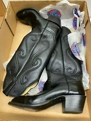 Gorgeously Handcrafted Vintage Kangaroo Leather 7b Womenand039s Boots - Hondo Western