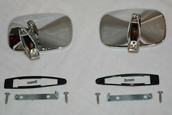 Chrome 1968-69 Chevy Impala Biscayne Bel Air Caprice Outside Door Mirrors Lh Rh
